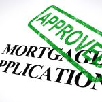Mortgage Application Approved Stamp Showing Home Loan Agreed
